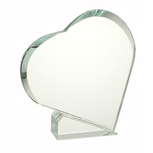 Glas hjerte på 15cm