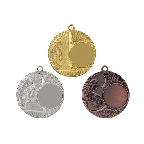50mm medalje med 1tal, 2 tal og 3 tal