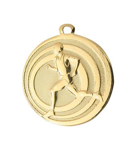 45mm løbemedalje i guld