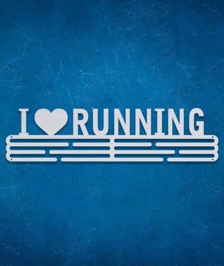 Medalje ophæng med I Love Running