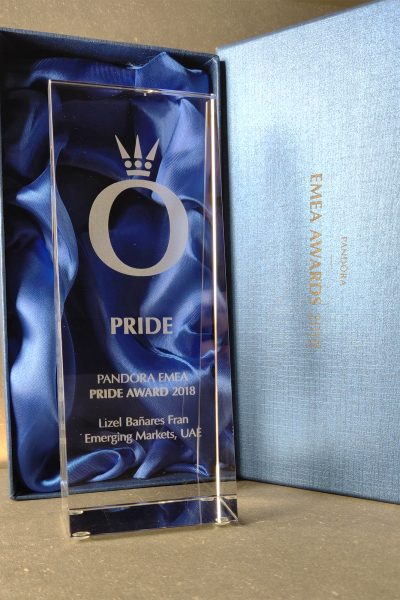 Pandora Glas Award til EMEA 2018