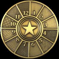 Bundprægning antik guld