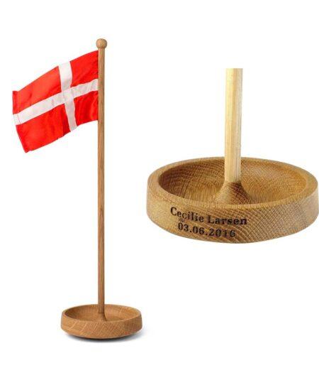 Spring Copenhagen bordflag med gravering