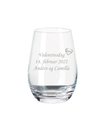 Valentinsdag vandglas