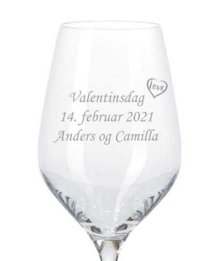 Valentinsdag hvidvinsglas