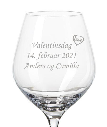 Valentins rødvinsglas
