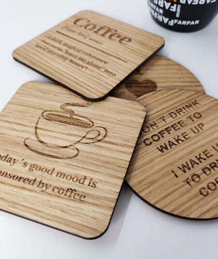 Kaffe coasters til kaffeelskeren
