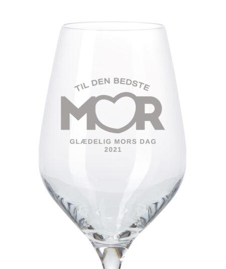 Hvidvinsglas til mors dag 2021