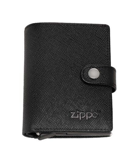Zippo kortholder i ægte læder