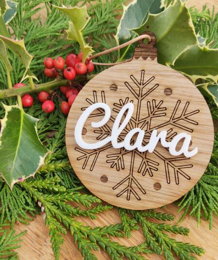 Julepynt med navn